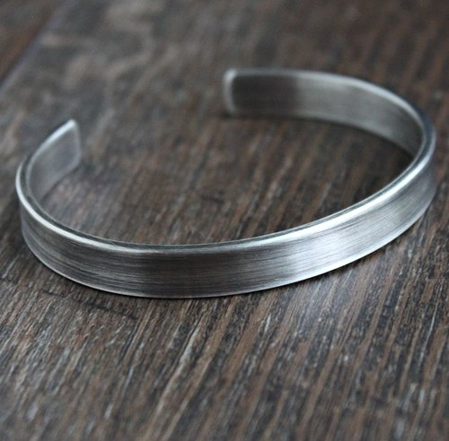 Mens Silver Bracelet Mens Silver Cuff Hammered Silver Cuff Hand Forged Heavy Silver Bracelet Fine Silver Rustic Silver Bracelet Artisan Mens