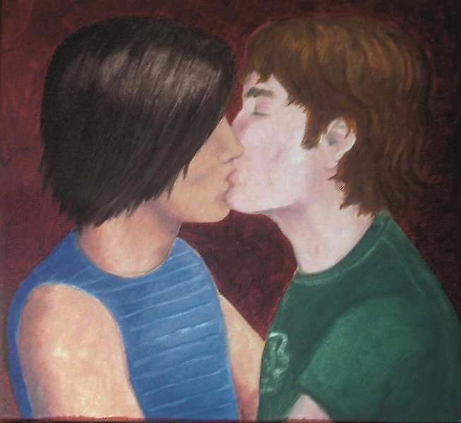 The Kiss #1  Oil on Canvas