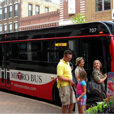 Operated by the St. Cloud Metropolitan Transit Commission, Metro Bus averages 7,900 passenger trips per day in their service area of Saint Cloud, Sartell, Sauk Rapids, and Waite Park.