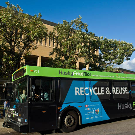 The Husky Fried Ride is a St. Cloud Metro Transit bus fueled by waste cooking oil. The concept received the 2008-09 Innovative Partnering and Collaboration Award from the Minnesota State Colleges and Universities system.