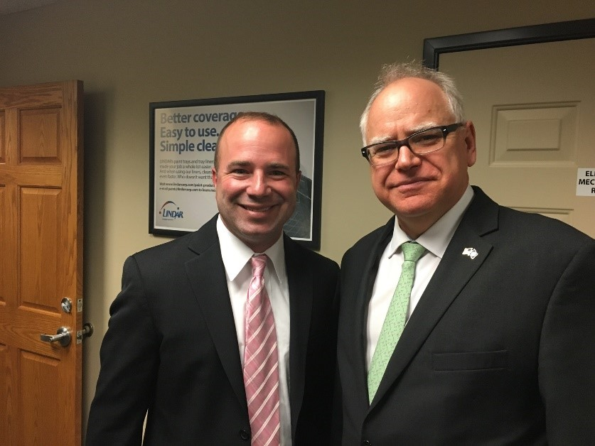 Great North Labs Managing Partner Rob Weber and MN Governor Tim Walz