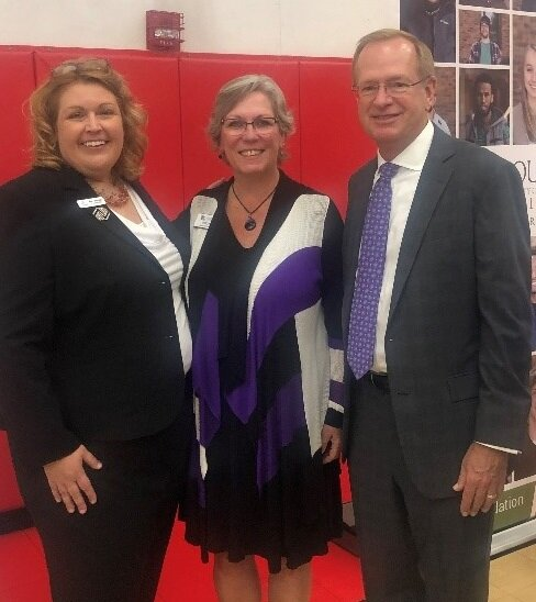 Pictured: Mary Swingle – Boys and Girls Club President/CEO, Patti Gartland – GSDC President and Jim Clark – Boys and Girls Club of America President/CEO at the CareerStart kickoff luncheon on Sept 9th