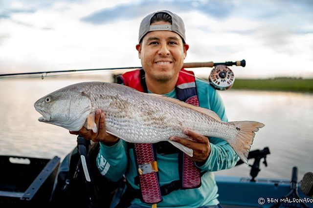 This fatty crushed a shrimp fly this afternoon. Man I love fall. #kayakfishing #redfish #hobiefishing