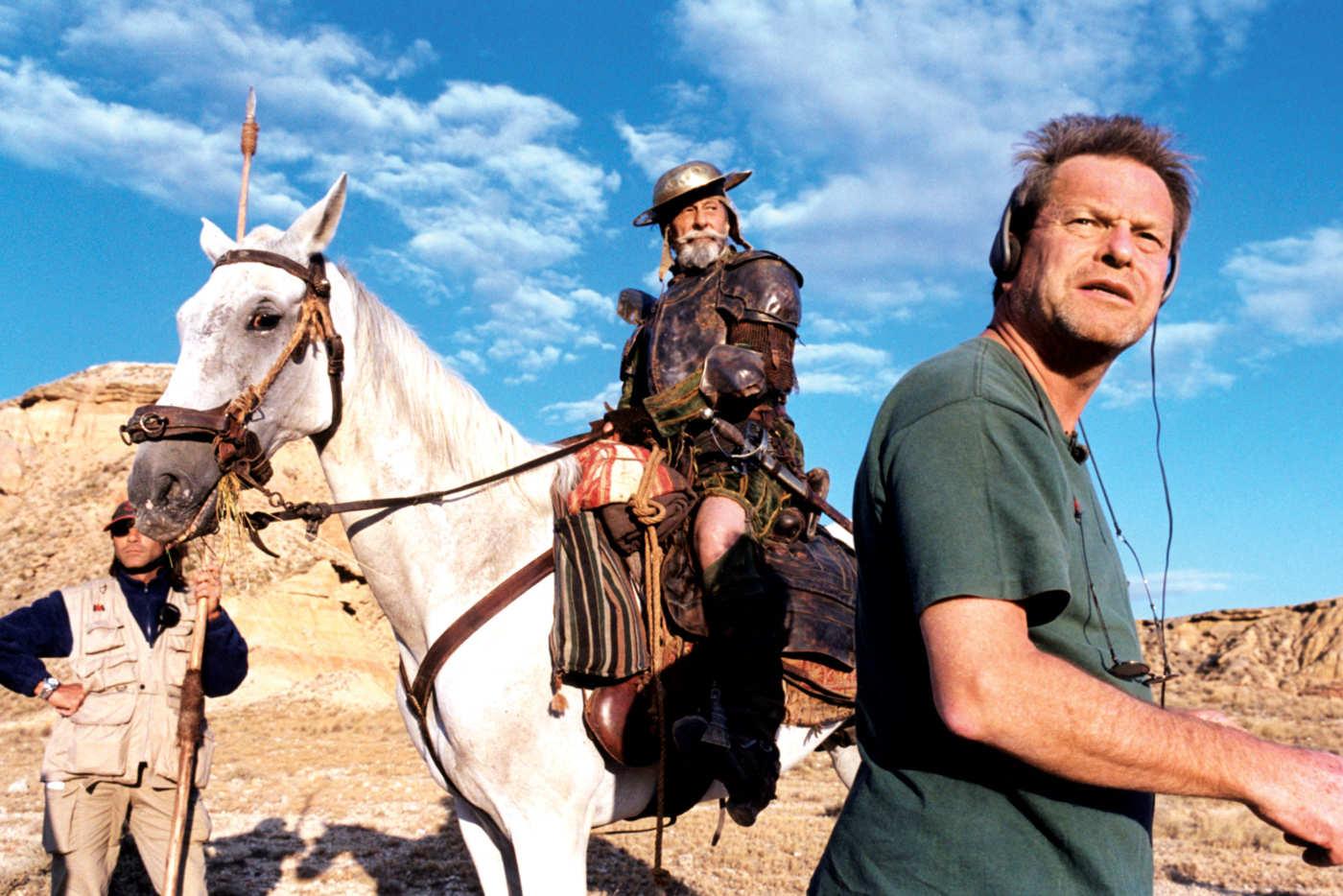 Gilliam on set in 2000