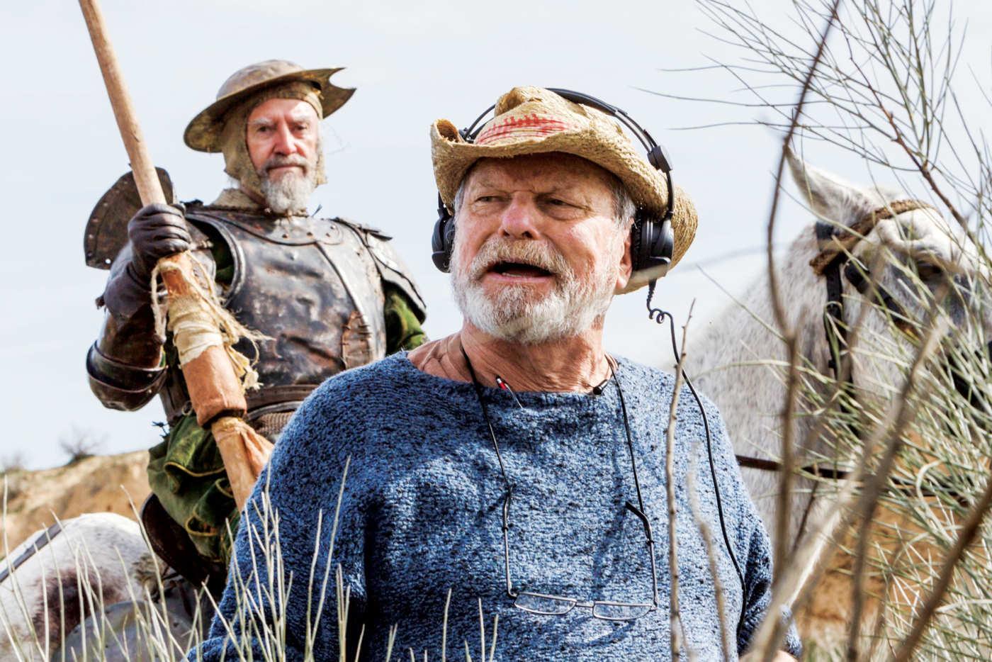Gilliam on set, 2017