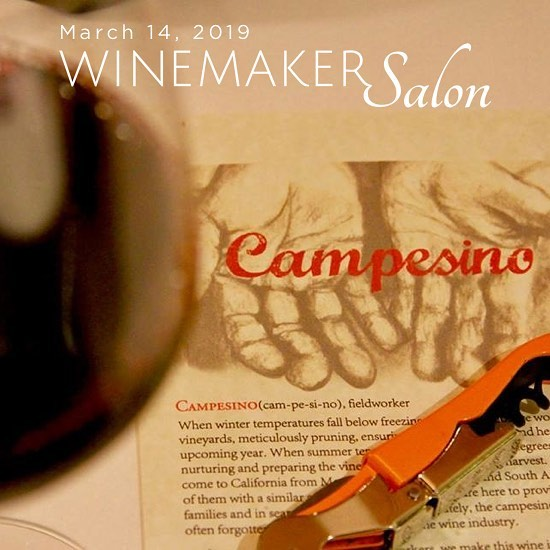 Join us for our upcoming Winemaker Salon with @campesinocellars March 14th in San Francisco. @macariomontoya will be in the house 💥 🔗 in bio 🍷
