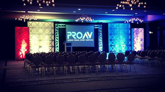 We are having #MondayBlues after this weekend. We loved creating this set with our client! Although we are sad the event is over, we are looking forward to creating more with them and YOU in the future! Anyone else have the blues after such a beautiful weekend? . . . #proav #lighting #audio #visual #team #events #av #liveevents #production
