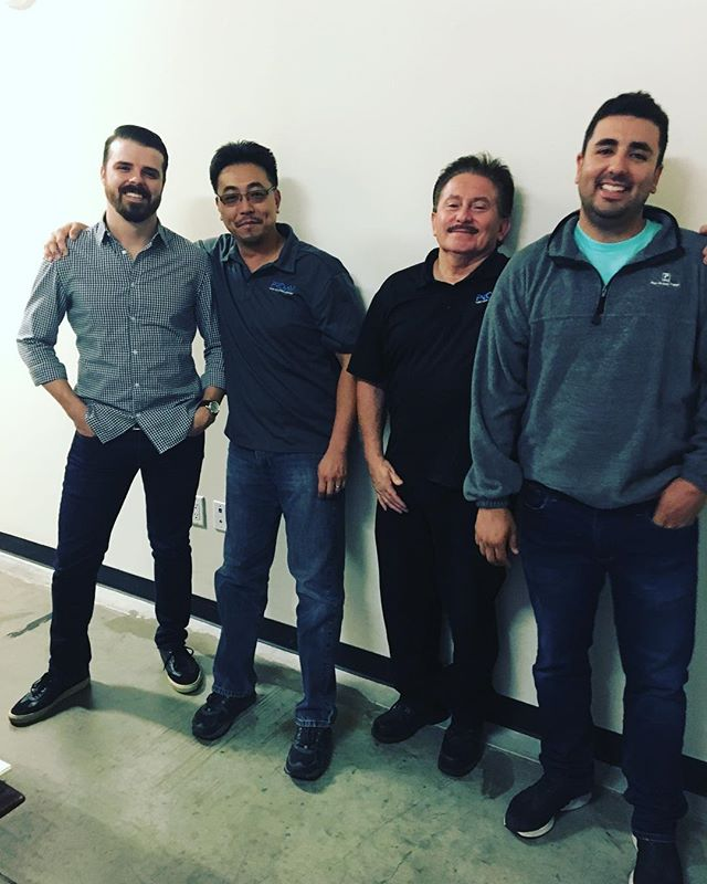Cheers to a happy #thankfulthursday today! Shoutout to Jonathan, James, Jesse and Michael for putting in hard work and being awesome team players. We appreciate everything you guys do!