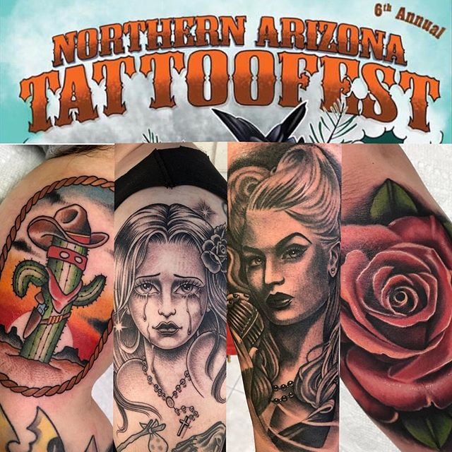 @mariogtattoos and @tattootony602 will be at @northernaztattoofest this weekend. Please contact them directly to set up an appointment.