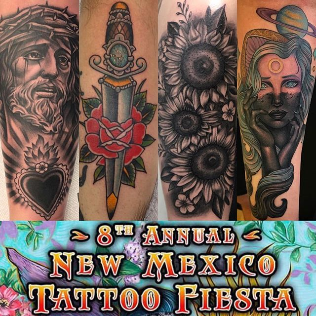 New Mexico, THIS WEEKEND! Tony, Mario, Nick, and Daniel will all be tattooing at the @newmexicotattoofiesta  If you're interested in getting tattooed please contact them directly to set up an appointment