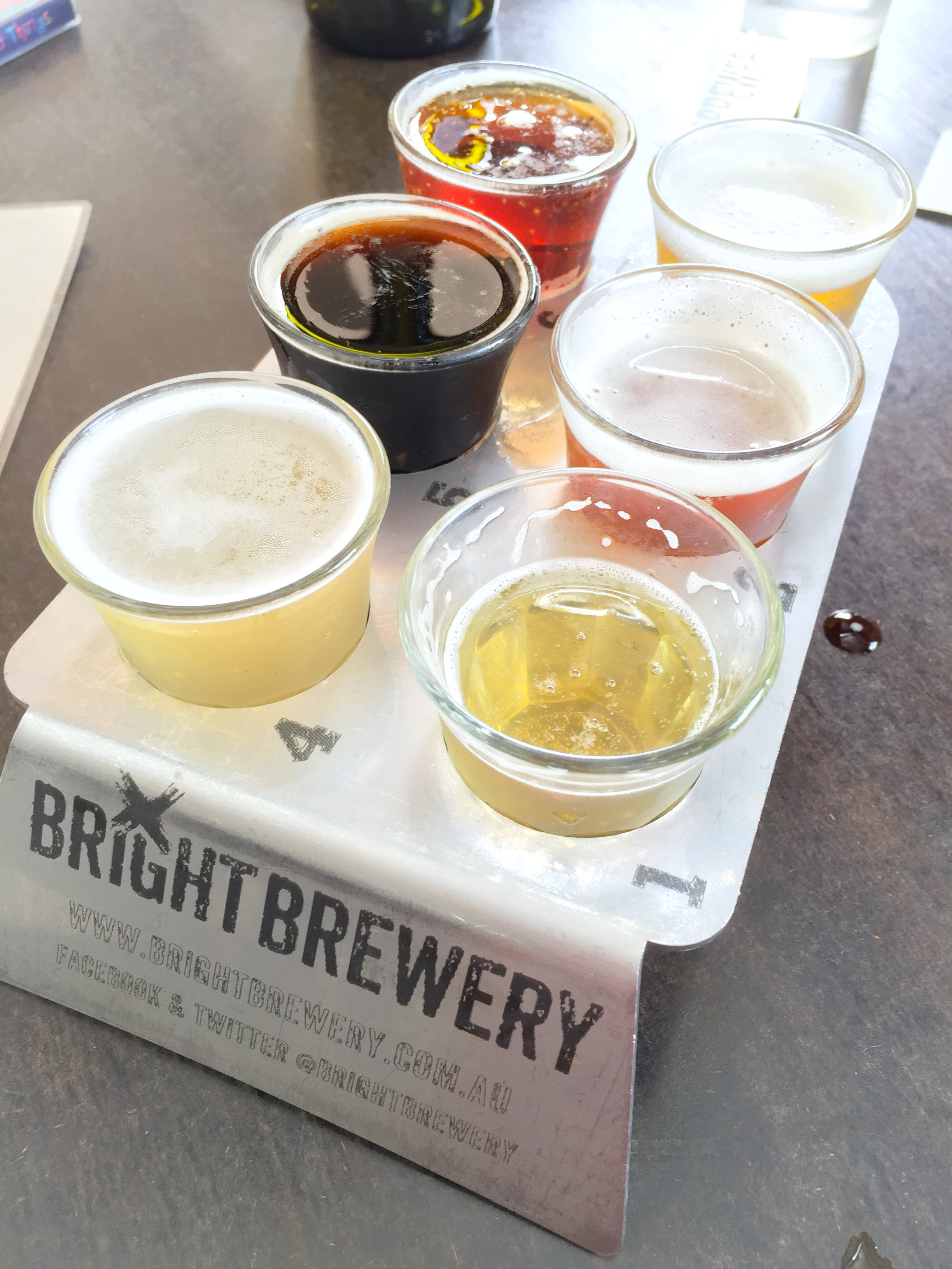 Just a taste of the beers on offer at Bright Brewery