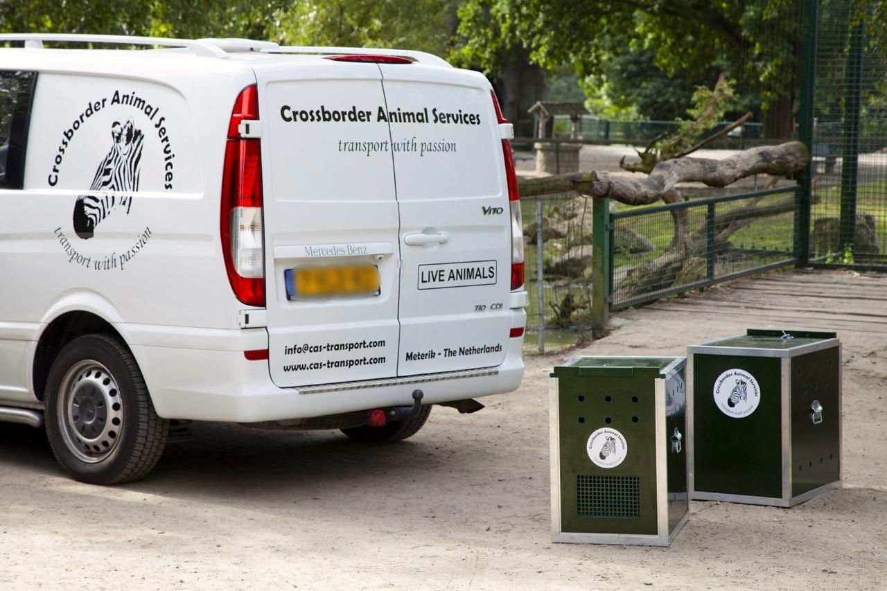 Crossborder Animal Services Van with crates for monkey transportation.jpg