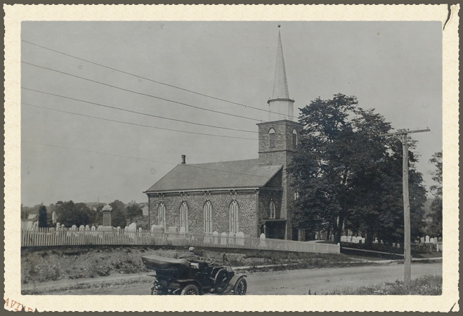 1868 church with white fence