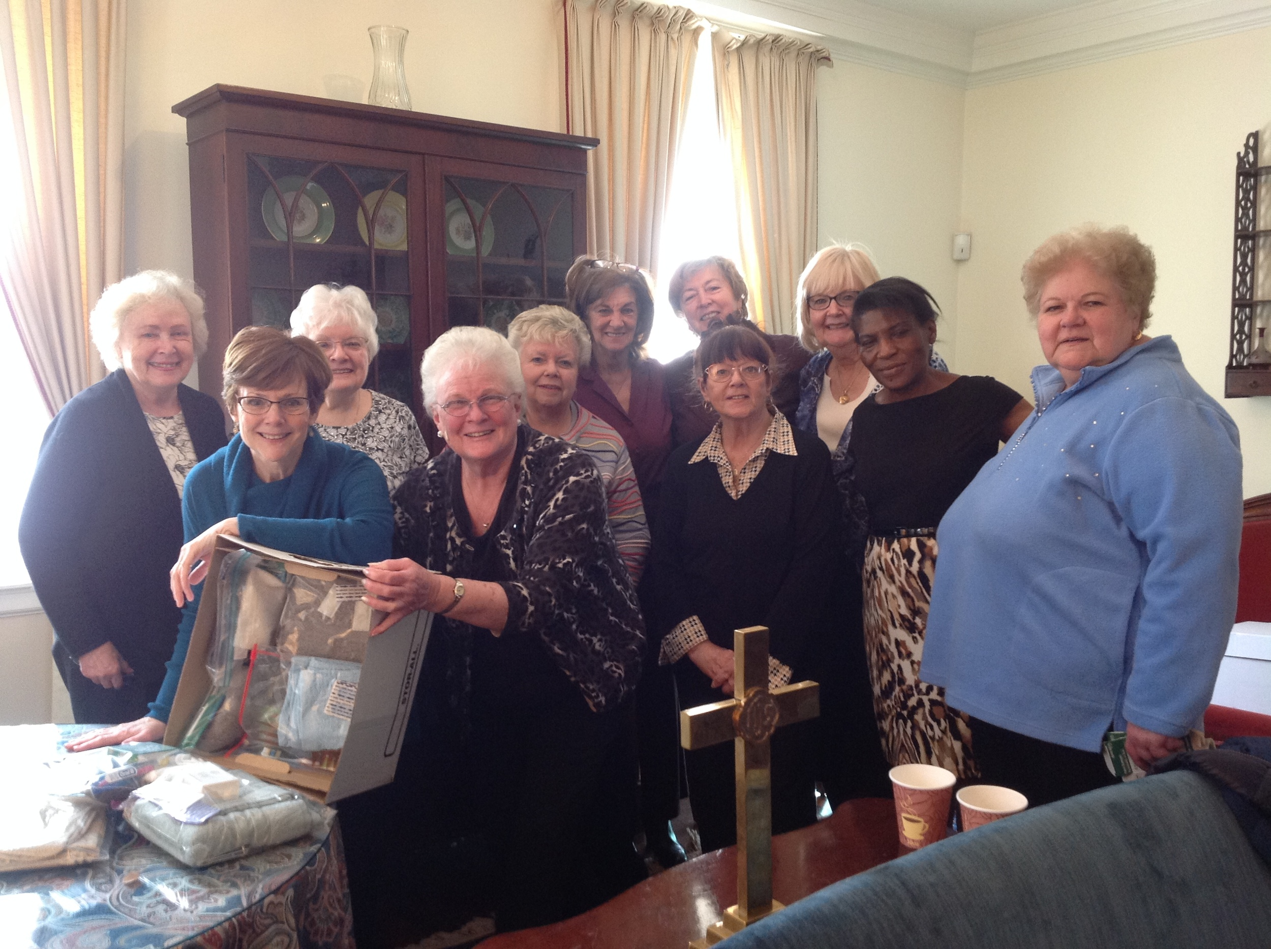 Susan Young Circle donates approx. 45 Hygiene kits to Church World Services.
