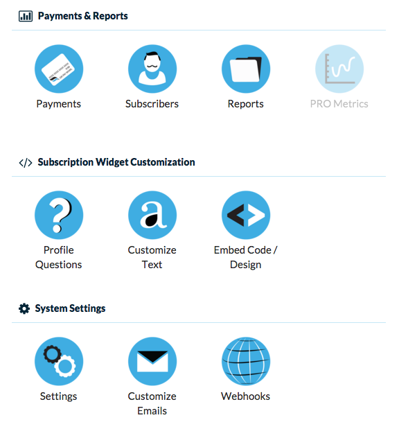 Detail of navigation icons