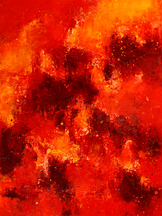 """Fire Fall"" 18 x 24"" oil on canvas, 2016"