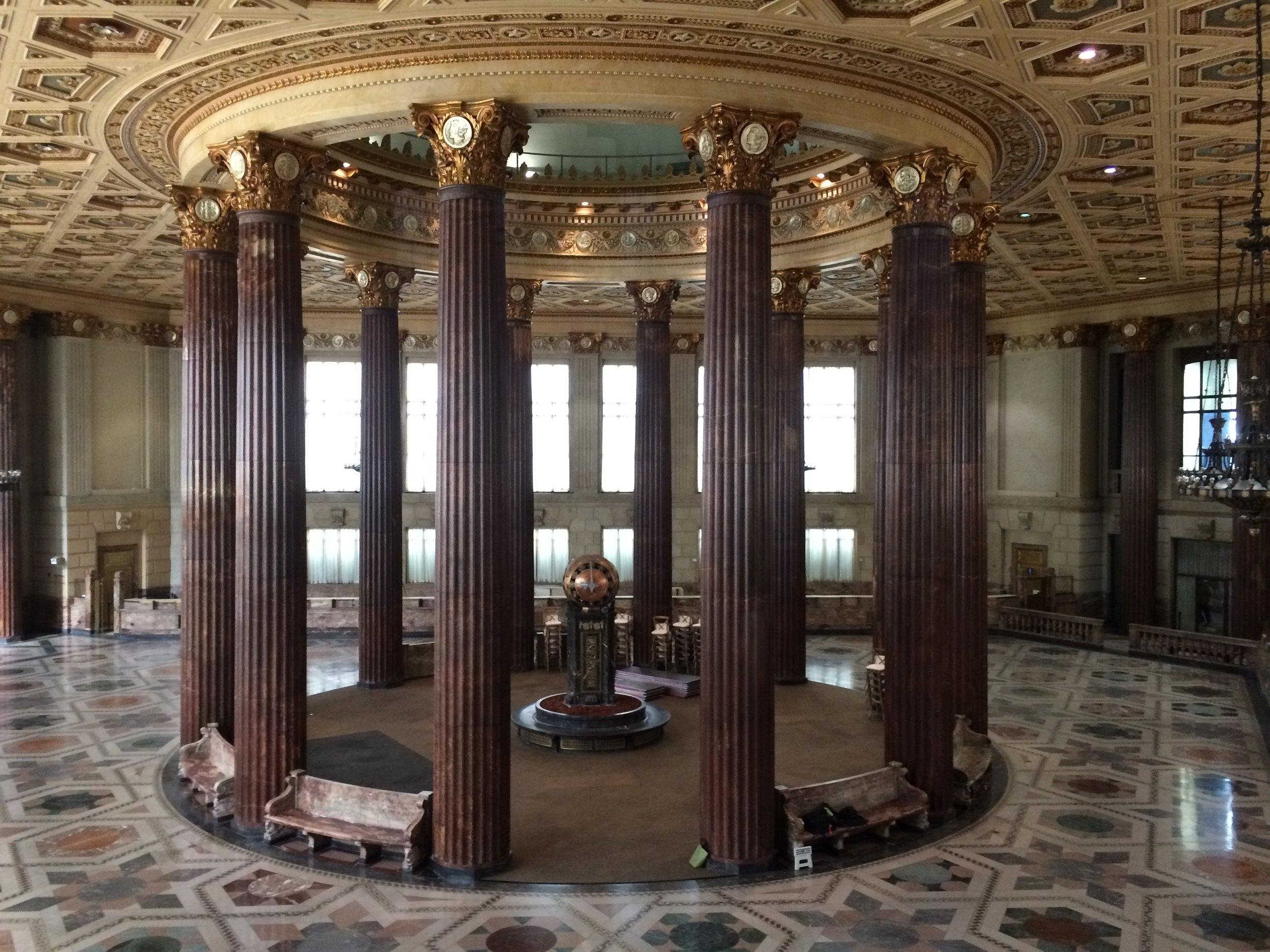 A view of the the rotunda from the second floor balcony.