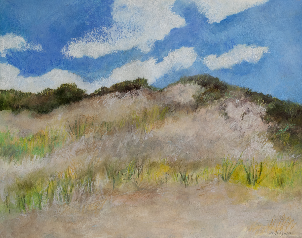 "Fire Island Big Dune, 14 x 11""  pastel and acrylic on paper.jpg"