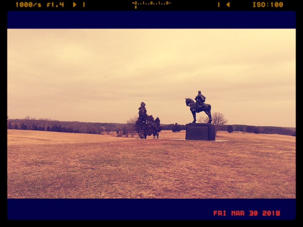 A statue of Stonewall Jackson surveys Henry Hill.