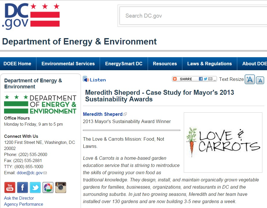 D epartment of Energy & Environment - July 2013