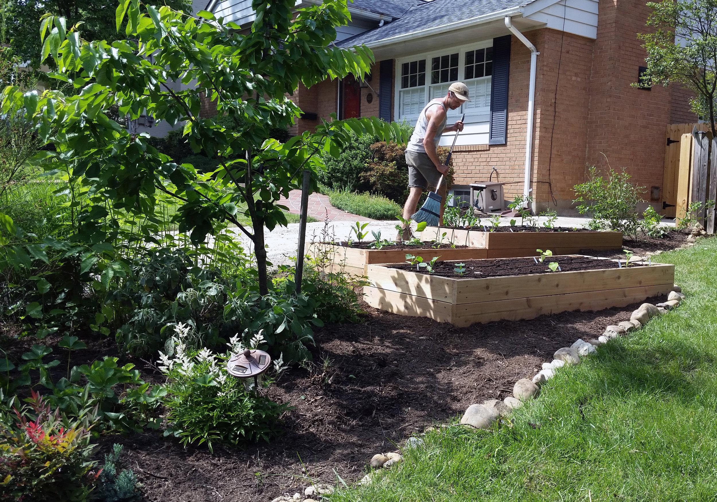 Raised Bed Garden, Stone Edging