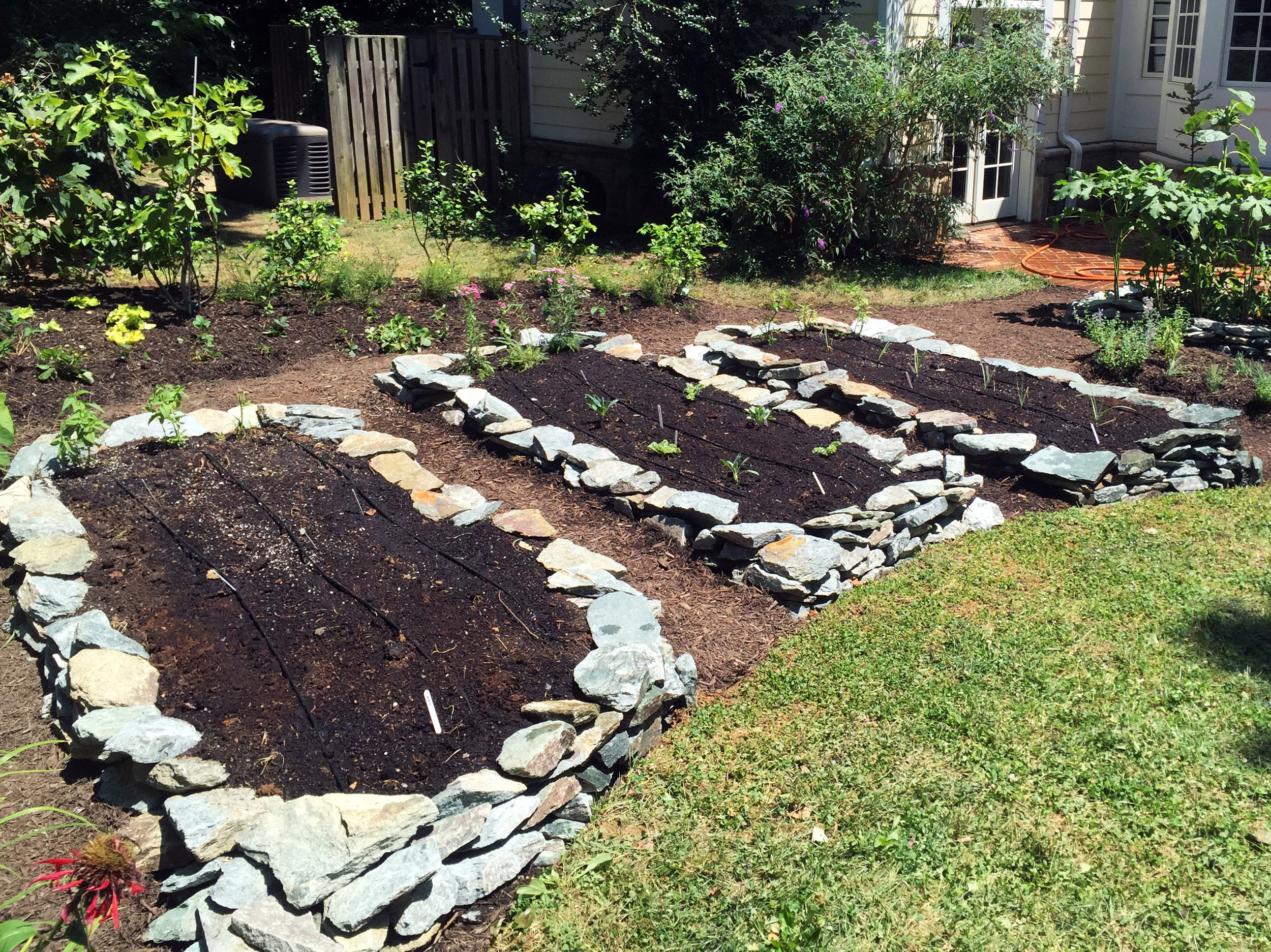 Stonework Raised Beds