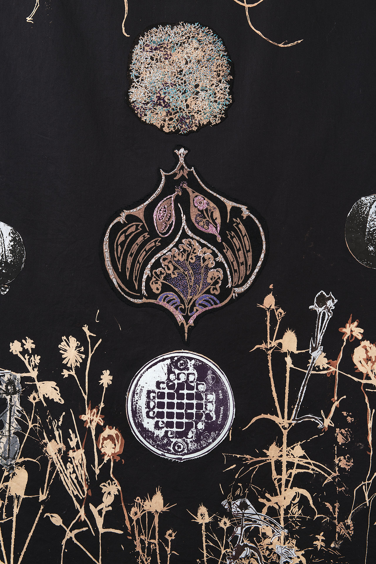 Talisman- detail showing embroidery