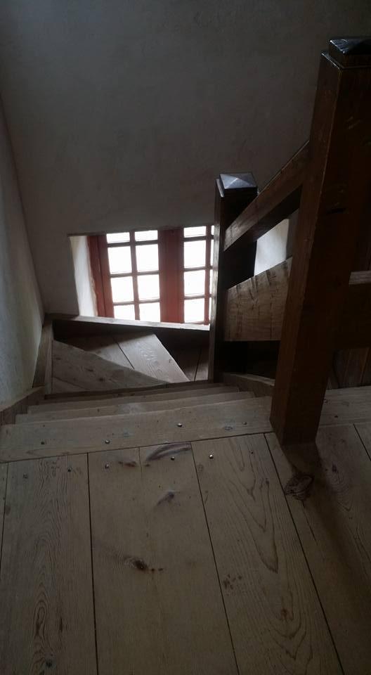 Barracks staircase