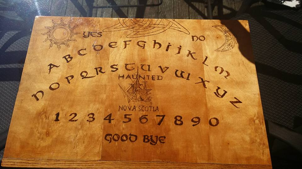 Custom 'Haunted Nova Scotia' board crafted by friend and fellow investigator Warren Robert