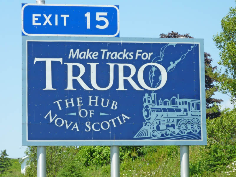 Highway 102 exit for Truro, Colchester County