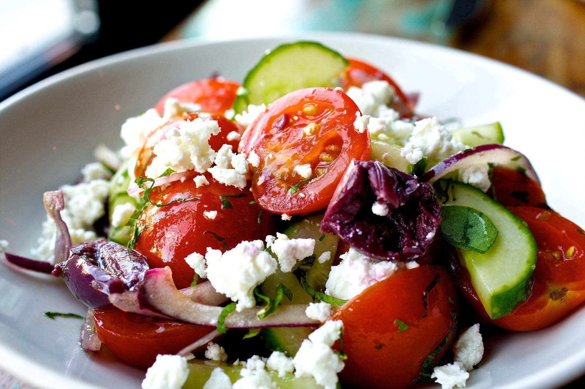 Village Salad via Doretta Taverna