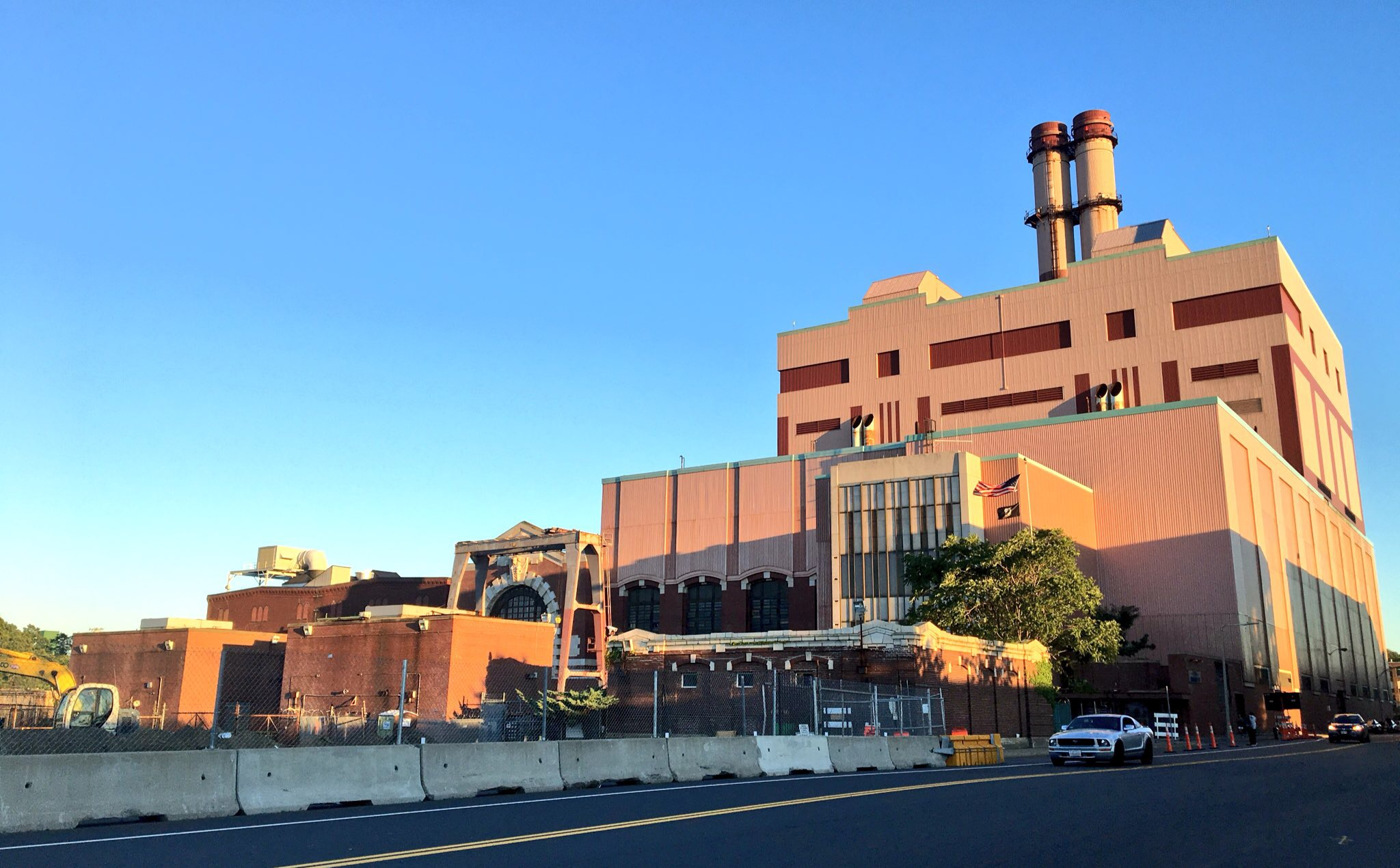 The  power plant that looms over  South Boston on Summer Street and East 1st Street