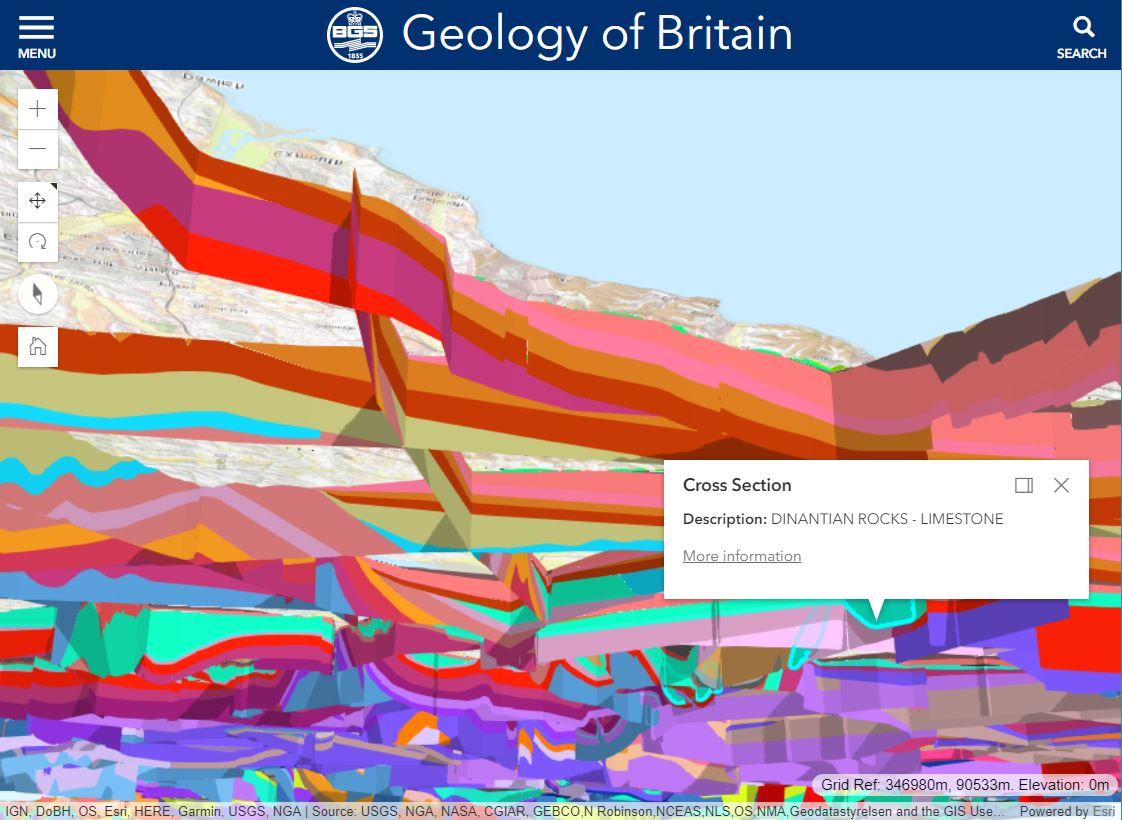 GEOLOGY CROSS SECTION