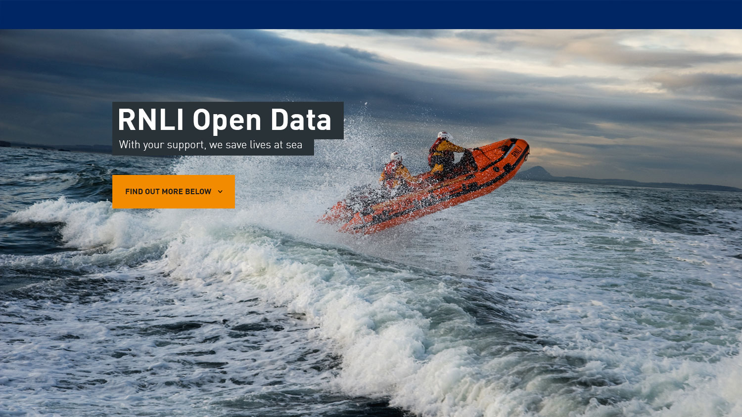 rnli's open data home page
