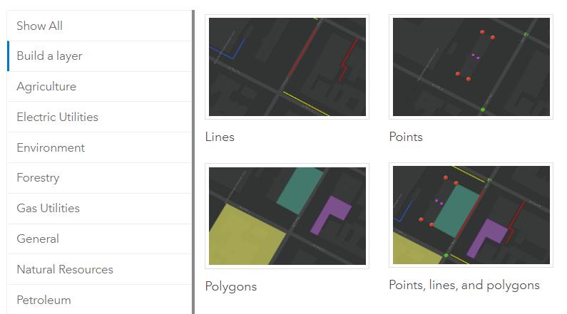 Risultati immagini per arcgis online build layer