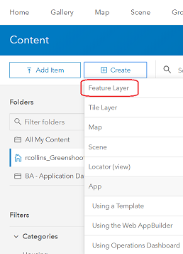 Creating ArcGIS Online layers from scratch — CommunityHub