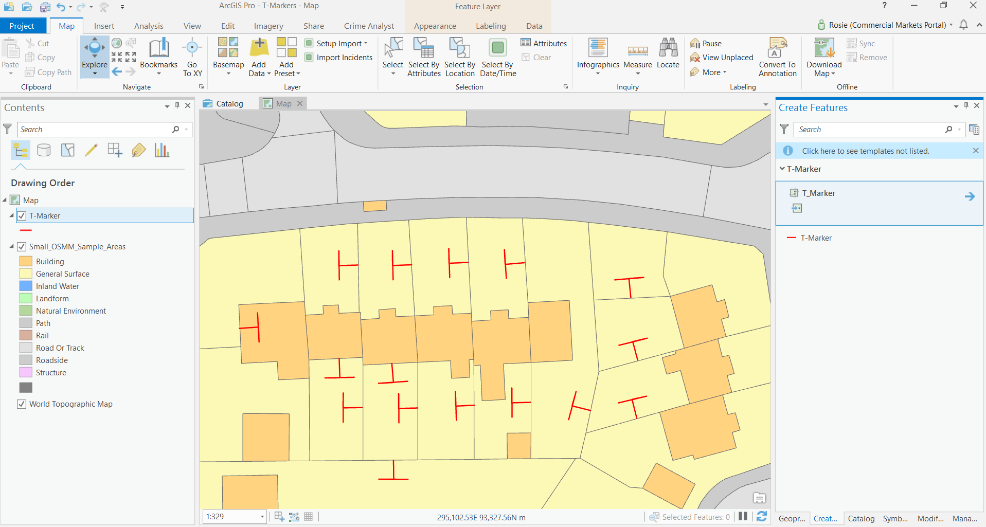 How to do polygon Red-Lining and T-Markers in ArcGIS Pro