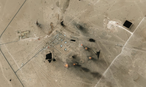 using esri's imagery basemap for an area in iraq