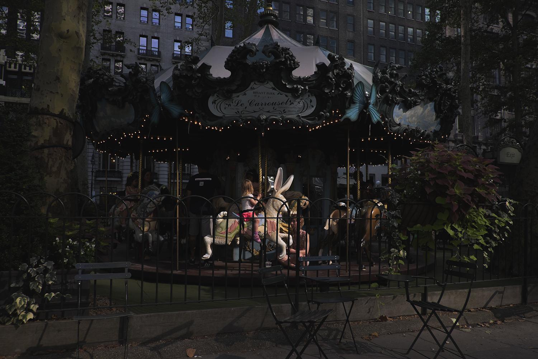 Le Carrousel in Bryant Park, Manhattan NY. 2015   ©Go Nakamura     photography