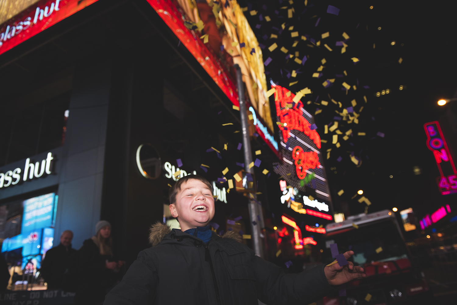New Years Countdown in Times Sq, NY. 2015  ©    Go Nakamura     photography