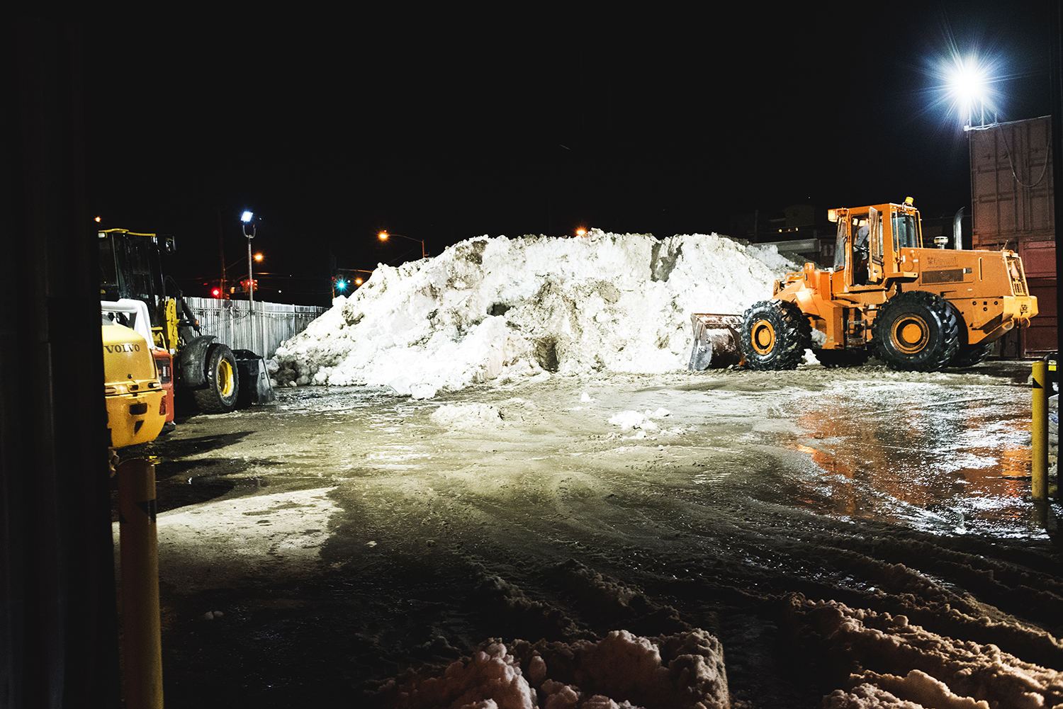 a facility to gather up the snow in Queens,NY.2016   ©    Go Nakamura     photography