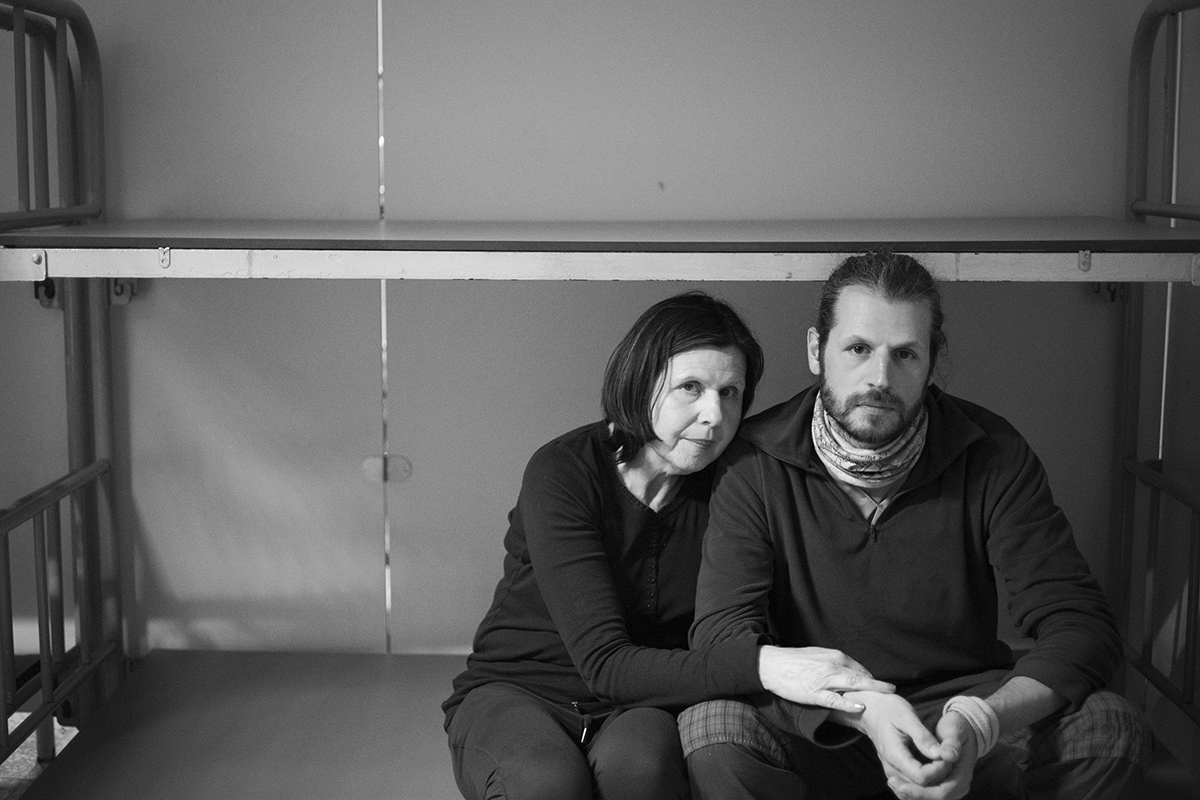 faces of the day. Piera and Alberto Ciotti. a mother and son from Italy.