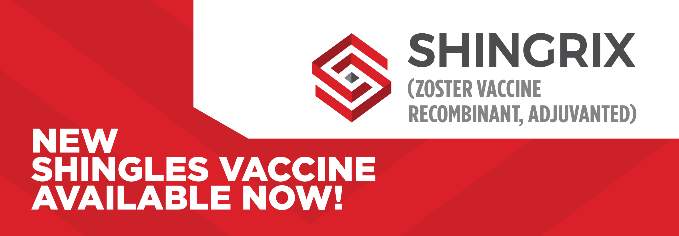 Shingrix is a vaccine that helps protect adults against shingles (also called Herpes Zoster)  As we age, the risk of getting shingles increases.  Shingrix is used for Adults 50 years of age and older to help the body build its protection against shingles.