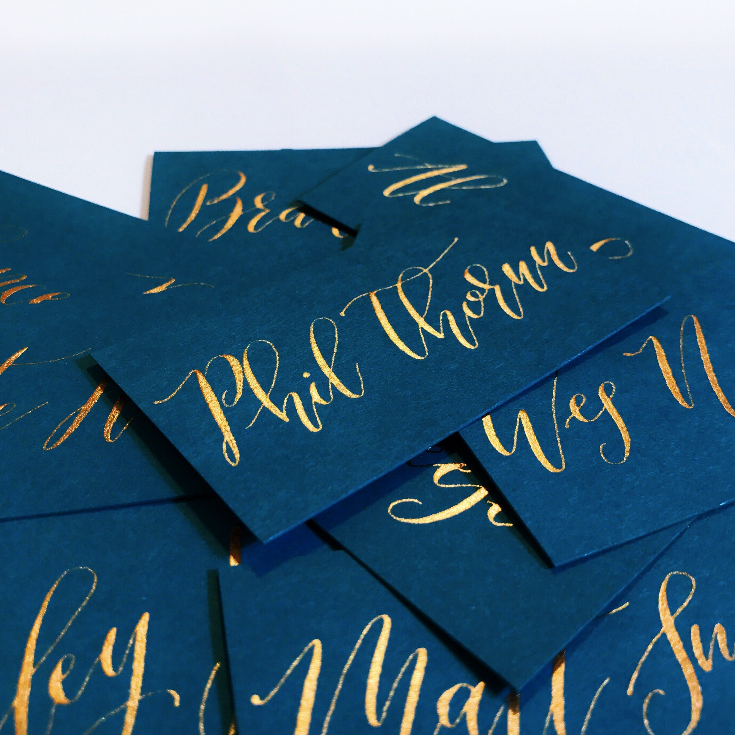 Gold Place Cards