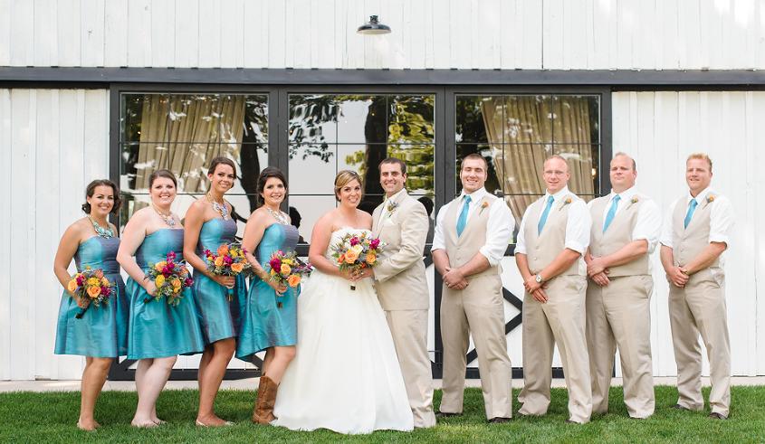 rustic wedding barn bridal party blue.png