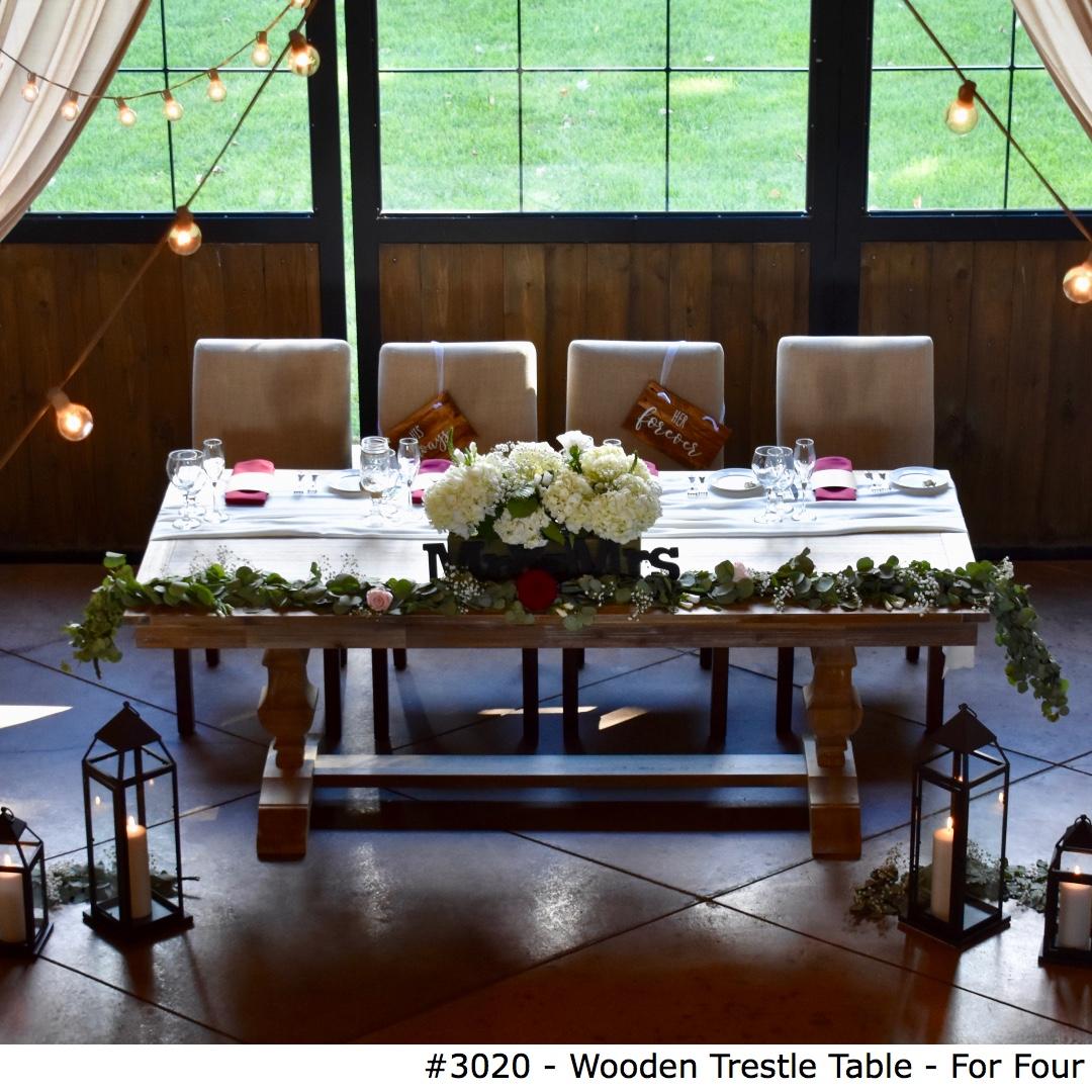 3020 Wooden Trestle Table - For Four-2.jpg