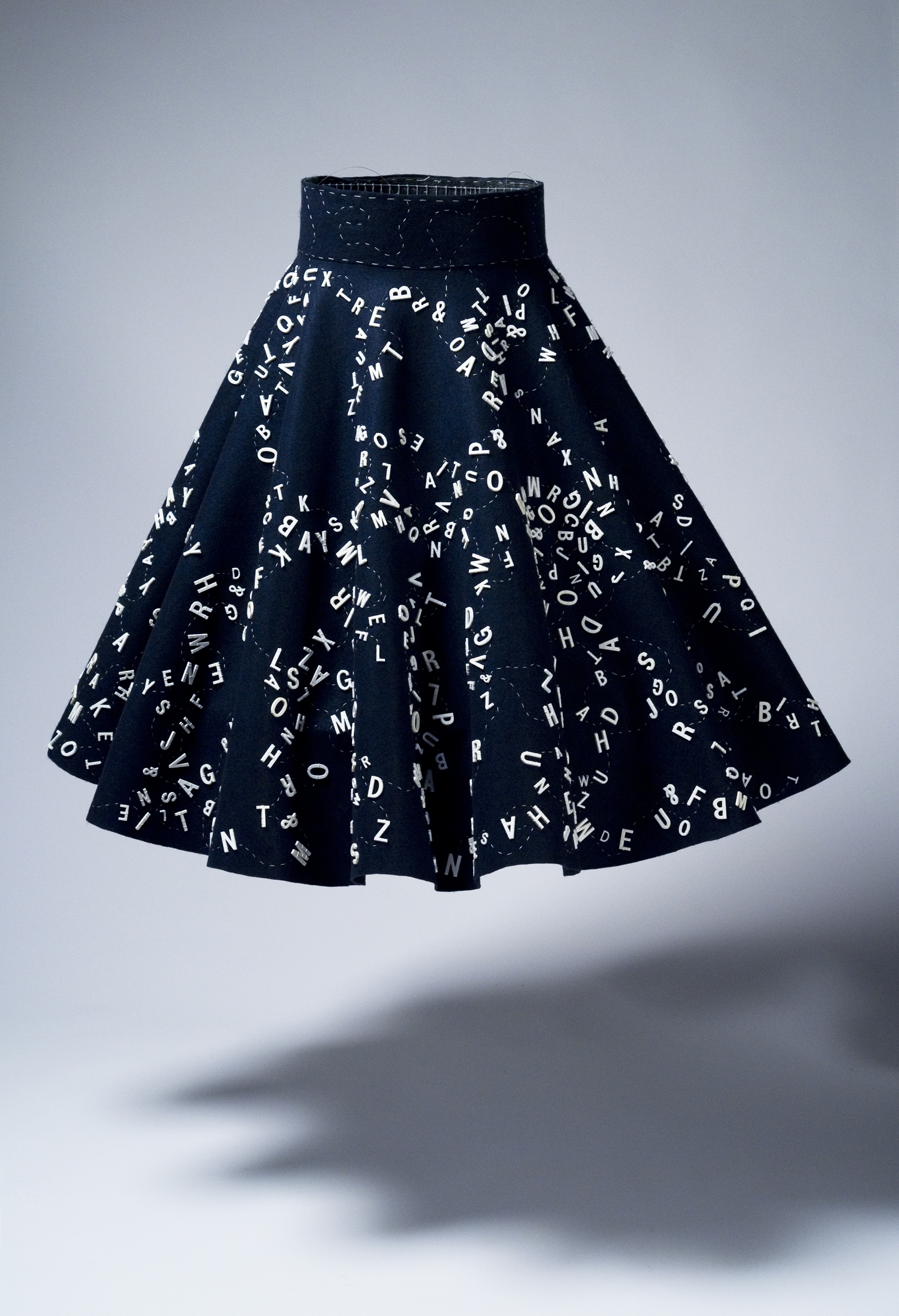 Mixed Messages Circle Skirt