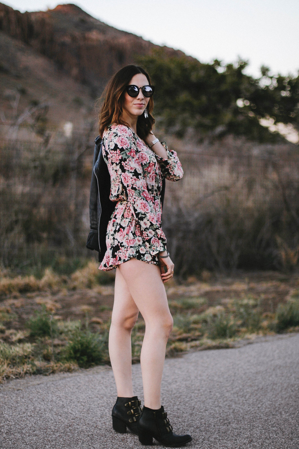 wearing: happy endings floral romper