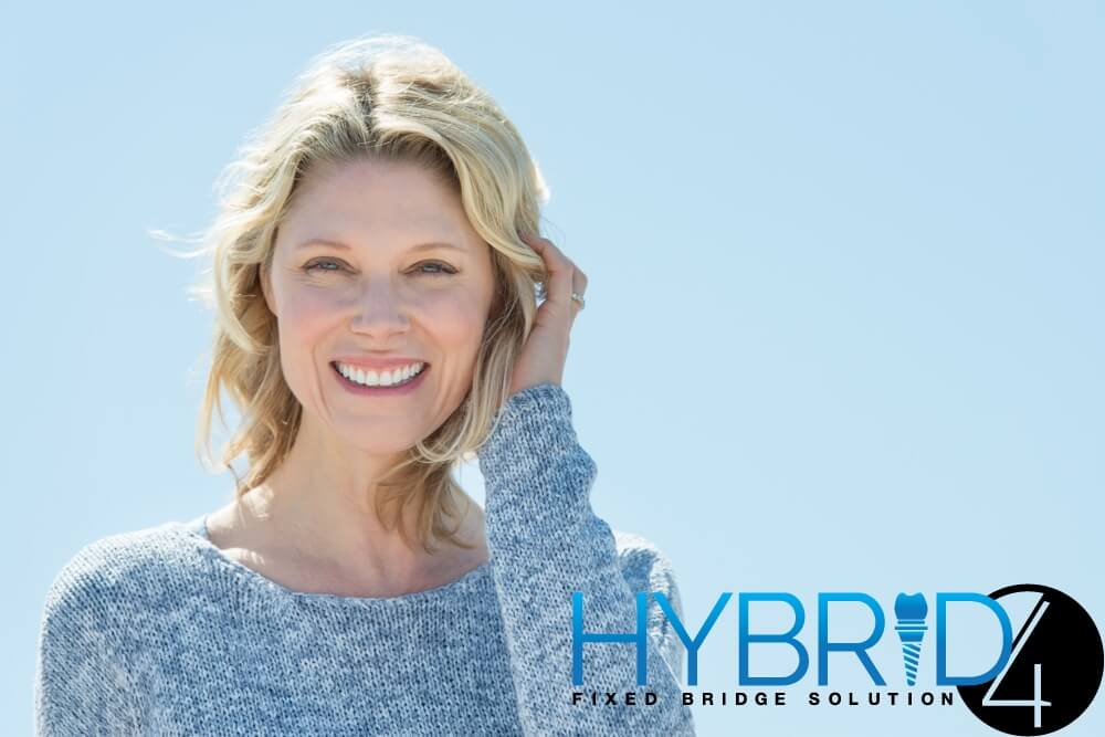 town center dentistry in Rancho Bernardo offers the hybrid4 fixed bridge dental implant procedure. this fixed bridge procedure is a dental implant that can give you a whole set of beautiful teeth in just a day. Make your smile whole again with hybrid 4 fixed bridge procedure at Town Center Dentistry in Rancho Bernardo.