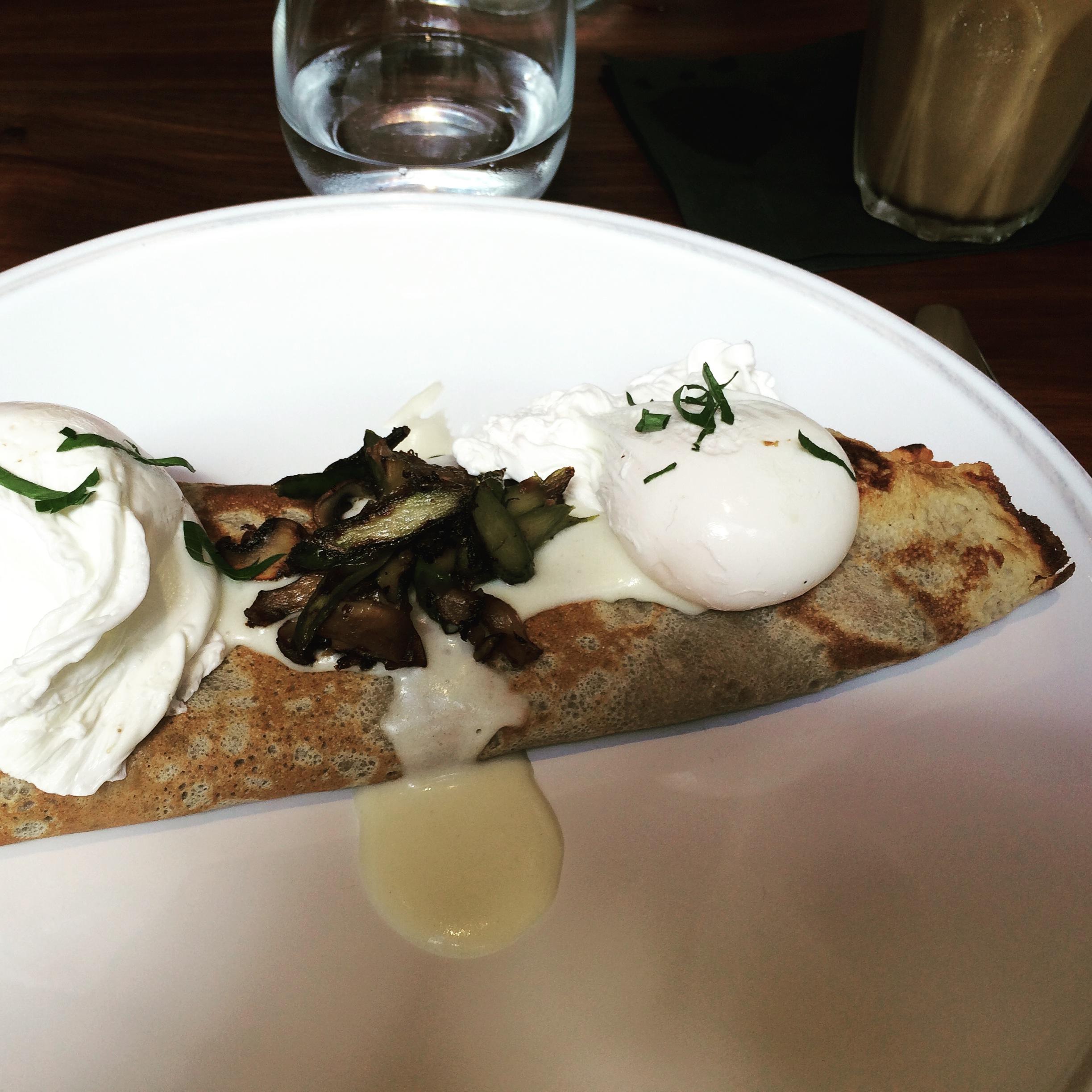 Buckwheat crepes for breakfast